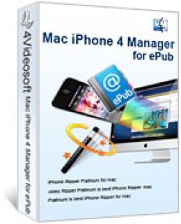 4Videosoft Mac iPhone 4 Manager for ePub
