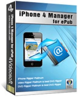 4Videosoft iPhone 4 Manager para ePub
