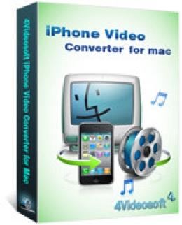 4Videosoft iPhone Video Converter para Mac