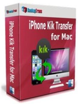 Backuptrans iPhone Kik Transfer para Mac (Family Edition)