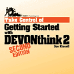 Ebook: Take Control of Getting Started with DEVONthink 2