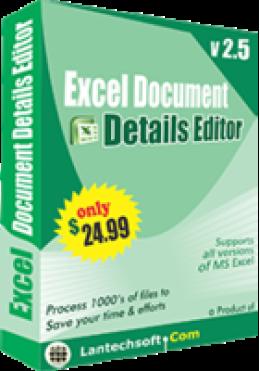 Éditeur d'informations sur le document Excel