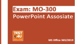 15% MO-300 PowerPoint Associate Exam -  Office 365 & Office 2019 - English version - 25 hours of access Promo Code Coupon