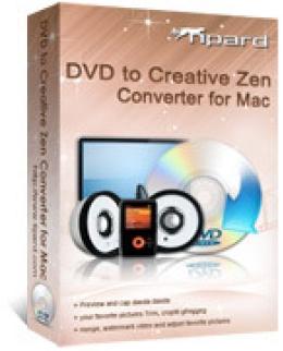Tipard DVD to Creative Zen Converter for Mac