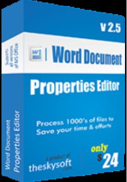 Editor de propiedades de documento de Word