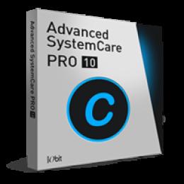 Advanced SystemCare 10 PRO (1 ano/1 PC) + DB+SD - Portuguese