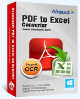 Aiseesoft PDF to Excel Converter Lifetime License