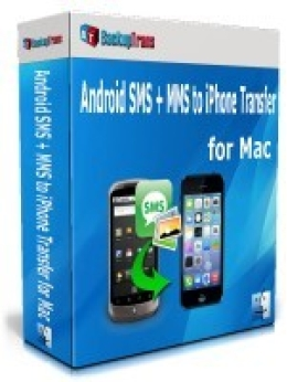 Backuptrans Android SMS + MMS a iPhone Transfer para Mac (Edición Personal)
