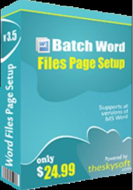 Batch Word Files Page Setup