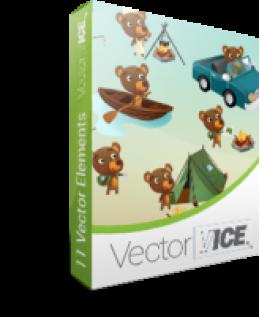 Bear Vector Pack - VectorVice