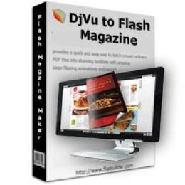 DjVu to Flash Magazine