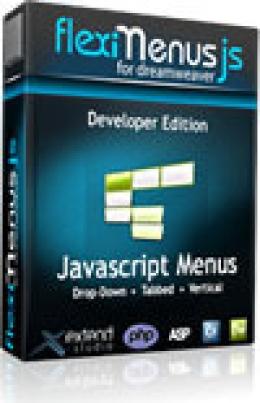 FlexiMenuJS for Dreamweaver Developer Edition - 3 websites 1 user