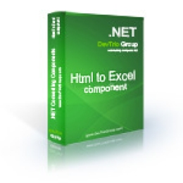 Html To Excel .NET - Developer License PRO