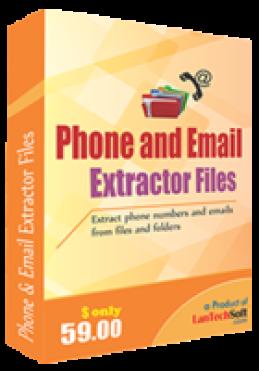 Fichiers d'extracteur de téléphone et d'email
