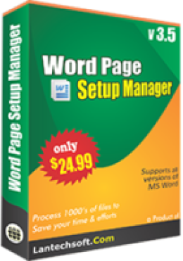 Word Page Setup Manager