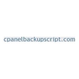 cPanelBackupScript Installation Service